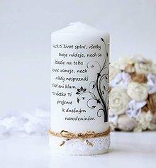 Svietidlá a sviečky - Dekoračná sviečka k narodeninám - 9187542_