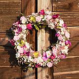 Ružovo-fialový venček