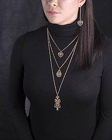 Náhrdelníky - Trojradový náhrdelník SLÁVY DCERA - 9190264_