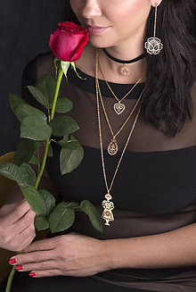 Náhrdelníky - Trojradový náhrdelník NEVESTA HOĽ - 9190269_