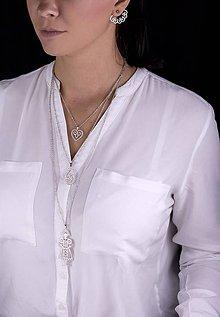 Náhrdelníky - Trojradový náhrdelník MARÍNA - 9190272_