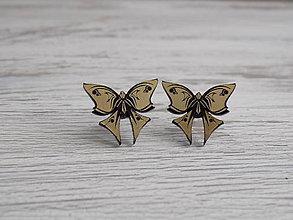 Náušnice - Napichovacie náušnice - Butterflies - 9187157_