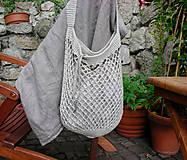 Nákupné tašky - Retro sieťovka (s vnútorným vreckom) - 9187102_