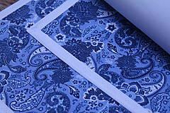 Úžitkový textil - MODROTLAČOVÉ ORNAMENTOVÉ PRESTIERANIE - 9189822_