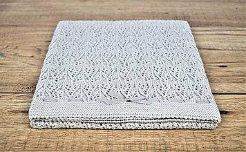 Textil - Pletená letná deka do kočíka