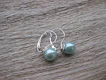 Perly visiace - striebro 925 (Svetlo modré perly, č.1791)