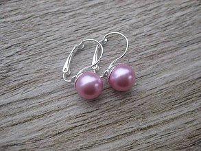 Náušnice - Perly visiace - striebro 925 (Svetlo ružové perly, č.1790) - 9187173_