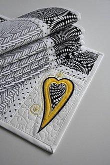 Úžitkový textil - Čierna a biela No.2 - 9190207_