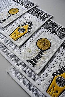 Úžitkový textil - Čierna a biela No.3 - 9190226_