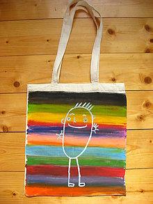Nákupné tašky - Maľovaná taška s