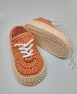Topánočky - Háčkované tenisky - 9193582_