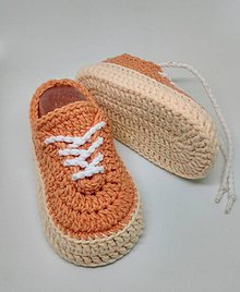 Topánočky - Háčkované tenisky  (Žltá) - 9193582_