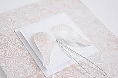 Papiernictvo - Pozdrav na 1.sv.prijímanie - anjelske krídla I - 9194844_