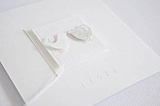 Papiernictvo - Svadobný pozdrav vtáčiky - 9194743_