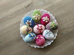 Dekorácie - Háčkované vajíčka s motýlikom - 9192851_