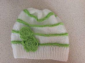 Detské čiapky - pletená čiapočka pre bábätko - 9190908_