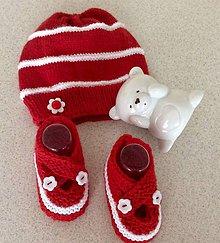 Detské súpravy - červená súprava pre dievčatko - 9193021_