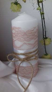 Svietidlá a sviečky - svadobné sviečky  (valec 60 x 150 mm) - 9191488_