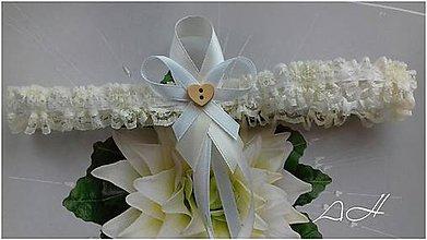 Bielizeň/Plavky - podväzok pre nevestu - 9195228_