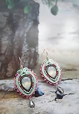 Náušnice - ružové mentolky - 9195138_