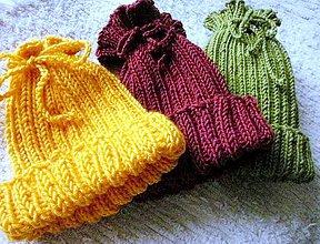 Detské čiapky - Farebná trojka - 9191938_