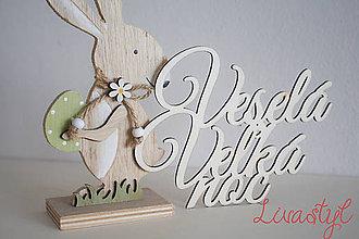 Dekorácie - Veselá Veľká noc - nápisy - 9191594_
