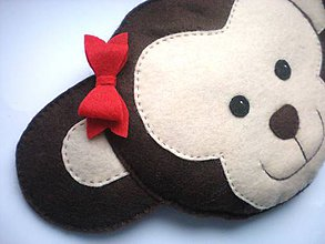 Textil - Hrejivý vankúš (Opica) - 9192292_