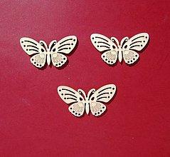 Polotovary - Drevený výrez motýle -sada 3 ks - 9194415_