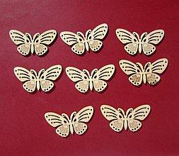 Polotovary - Drevený výrez motýle  6+2 zadarmo - 9194437_