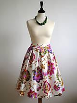Sukne - sukňa Pestrofarebné kvety - 9195821_