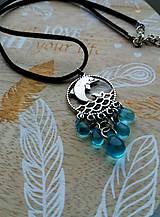 Náhrdelníky - Náhrdelník-  modrý - 9194382_