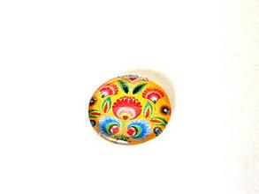 Komponenty - folklorny kabošon - rozkvitnuty tulipan - zlty 25mm - 9195590_