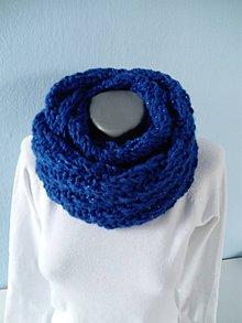 Šály - Parížska modrá s lurexovým vláknom - 9192905_