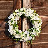 - Biely venček na dvere - 9190643_