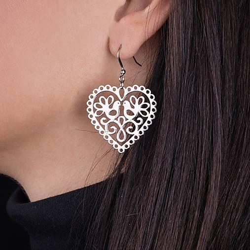 67d04f3ee Náušnice srdce holubice 3cm / KatarinaZiak - SAShE.sk - Handmade ...