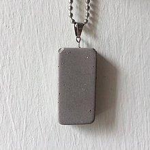 Náhrdelníky - Betónový náhrdelník Geometric gray (natural) - 9192337_