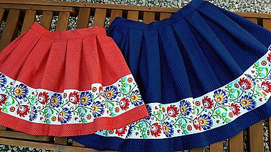 Sukne - Folkórna sukňa - 9195377_