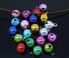 Galantéria - PR105 Roľničky farebné 14 x 10 mm - 9193773_