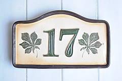 Tabuľky - Číslo domu z keramiky - 9190861_