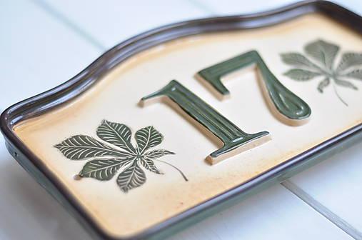 Číslo domu z keramiky