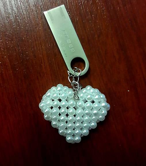 Kľúčenka   prívesok Srdiečko (Ružová)   SmileJ - SAShE.sk - Handmade ... ff7a3398c08