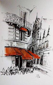 Kresby - cafe de the - 9193171_