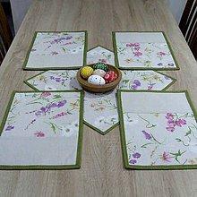 Úžitkový textil - Farebná lúka na režnej - prestieranie 25x35 - 9193609_