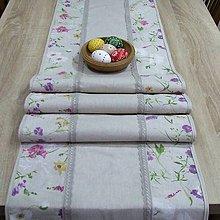 Úžitkový textil - Farebná lúka na režnej - stredový obrus(4) - 9194294_