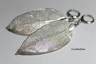 Náušnice - Pure Leaves Silver (Náušnice) - 9194369_