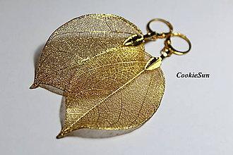 Náušnice - Pure Leaves Gold (Náušnice) - 9194435_