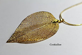 Náušnice - Pure Leaves Gold (Prívesok) - 9194567_