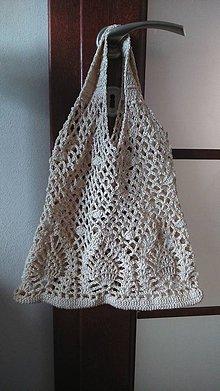 Nákupné tašky - Háčkovaná eko taška - sieťovka 2 - 9192694_