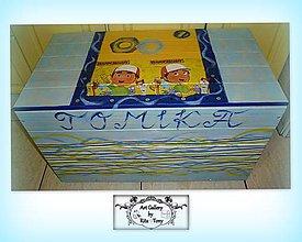 """Detské doplnky - Masívna truhlica na hračky """"Malý opravár"""" :) - 9194421_"""