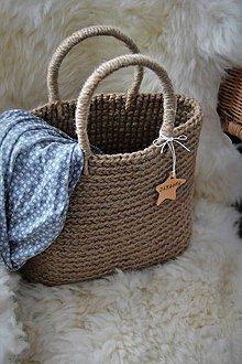 Veľké tašky - Jutová taška - 9191563_